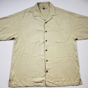 Tommy Bahama Ivory 100% Silk S/S Shirt Mens Medium